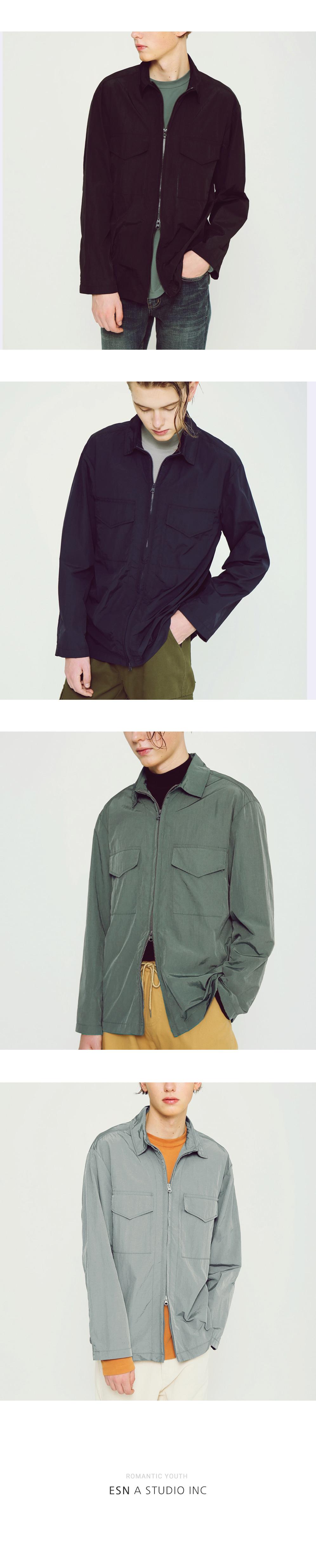 라이트 메탈릭 셔츠 자켓 카키 - 이에스엔, 48,000원, 상의, 셔츠