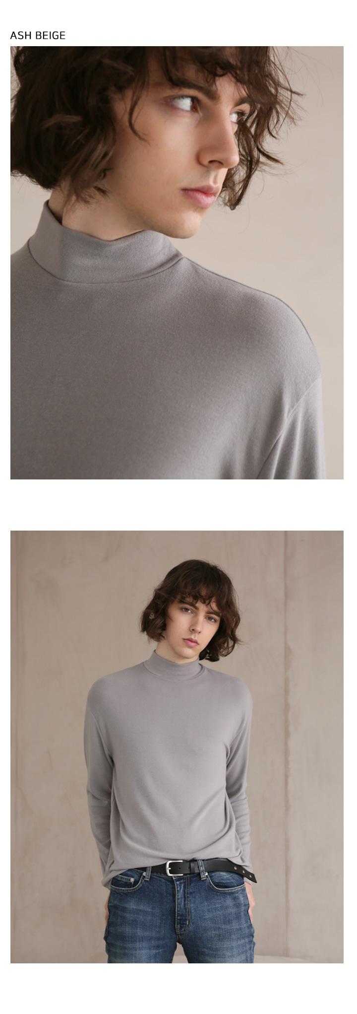 이에스엔(ESN) [세트]  하프 폴라 니트 티셔츠